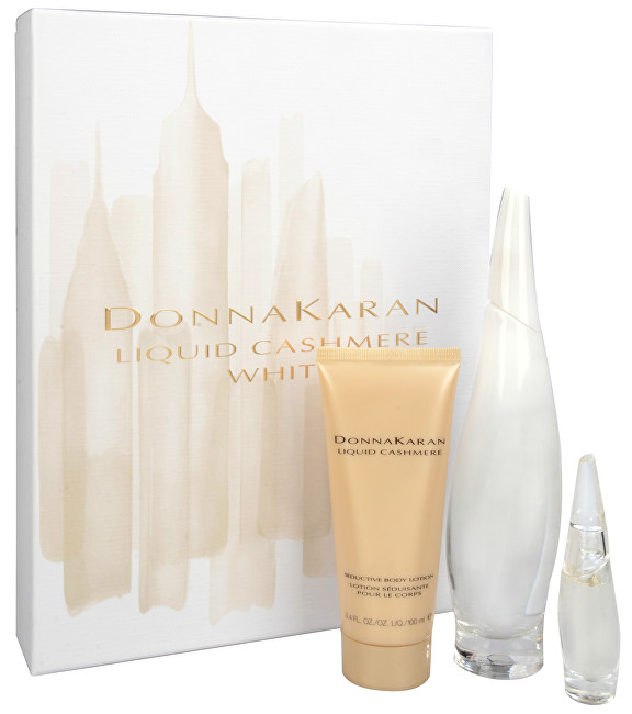 DKNY Liquid Cashmere White - EDP 100 ml + EDP 7 ml + tělové mléko 100 ml