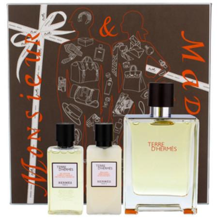 HERMES Terre D´ Hermes - EDT 100 ml + balzám po holení 40 ml + sprchový gel 40 ml