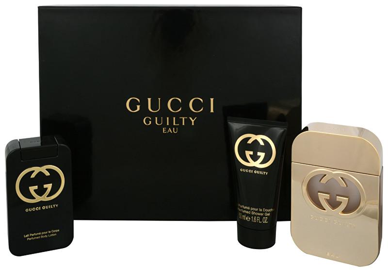 GUCCI Guilty Eau - EDT 75 ml + tělové mléko 100 ml + sprchový gel 50 ml