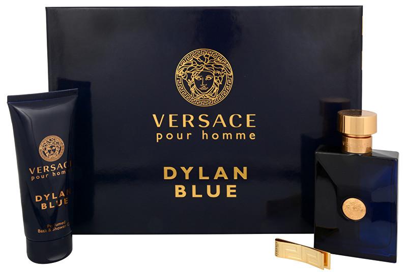 VERSACE Versace Pour Homme Dylan Blue - EDT 100 ml + sprchový gel 100 ml + spona na bankovky
