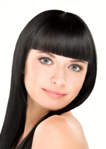 Clip-in umělé vlasy 50cm - černé
