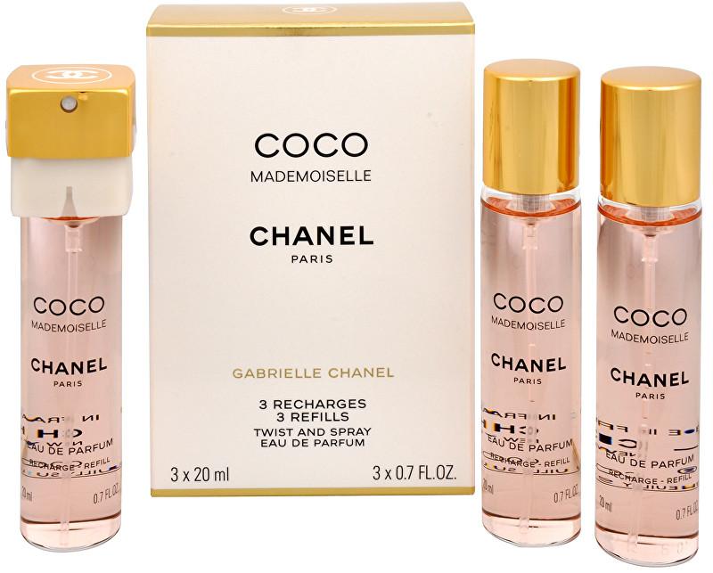 CHANEL Coco Mademoiselle - EDP - náplň (3 x 20 ml) 60 ml