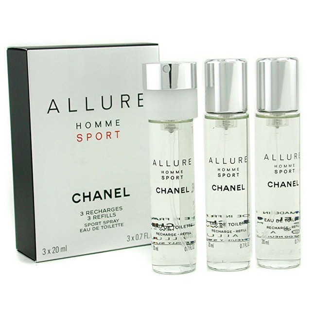 CHANEL Allure Homme Sport - EDT náplň (3 x 20 ml) 60 ml