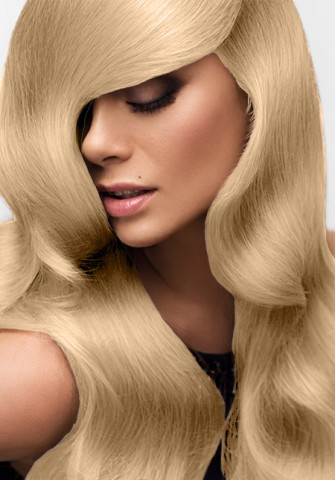 Clip in vlasy deluxe - platinová blond - 35 cm