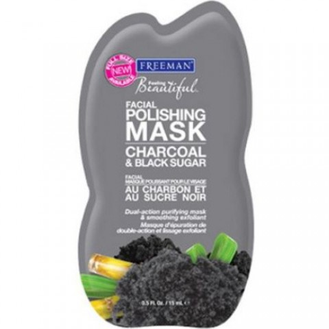 Freeman Peelingová maska s uhlím a cukrom (Facial Polishing Mask Charcoal & Black Sugar)