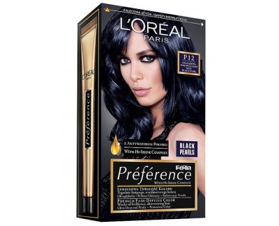 Loreal Paris Barva na vlasy Préférence Black Pearls P12 Black Night
