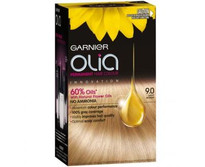 Garnier Permanentní olejová barva na vlasy bez amoniaku Olia 10.21 perleťová velmi světlá blond