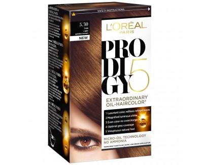 Loreal Paris Olejová barva na vlasy Prodigy 5 3.0 hnedočierna