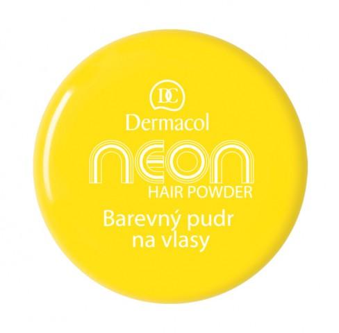 Dermacol Barevný pudr na vlasy Neon - Žlutá č.1 žlutá