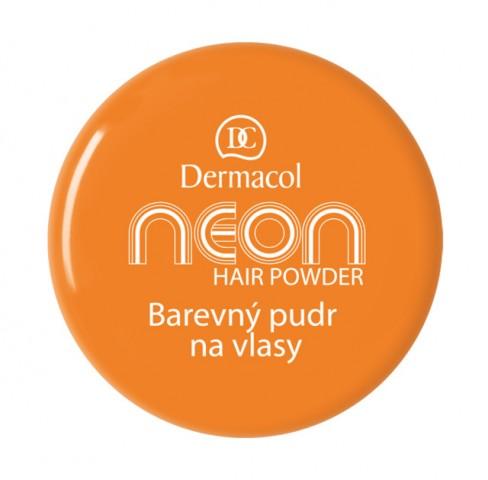 Dermacol Barevný pudr na vlasy Neon - Oranžová č.2 oranžová