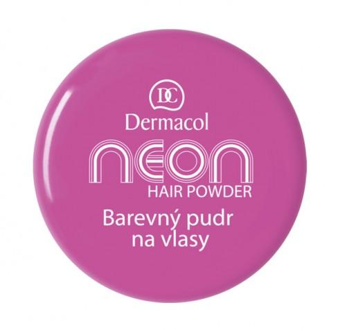 Dermacol Barevný pudr na vlasy Neon - Fialová č.4 fialová