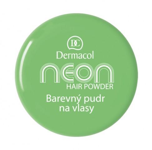 Dermacol Barevný pudr na vlasy Neon - Zelený č.6 zelená