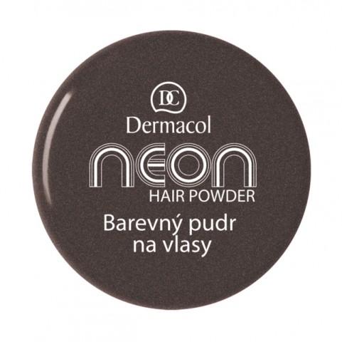 Dermacol Barevný pudr na vlasy Neon - Černá se třpytkami č.8 černá se třpytkami