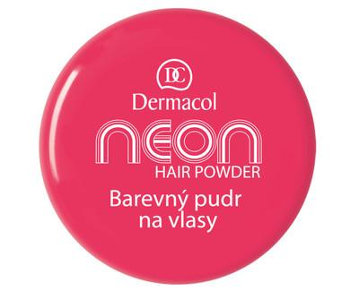Dermacol Barevný pudr na vlasy Neon - Růžová se třpytkami č.9 růžová se třpytkami