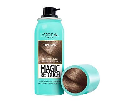 Loreal Paris Vlasový korektor šedin a odrostů Magic Retouch (Instant Root Concealer Spray) 75 ml 02 Dark Brown