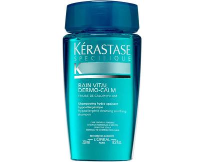 Kérastase Šampon pro citlivou vlasovou pokožku pro normální až smíšené vlasy Bain Vital Dermo-Calm (Hypoallergenic Hydra-Soothing Shampoo) 1000 ml