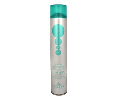 Kallos Extra silně tužící lak na vlasy s keratinem (Hair Spray Extra Strong With Keratin) 750 ml
