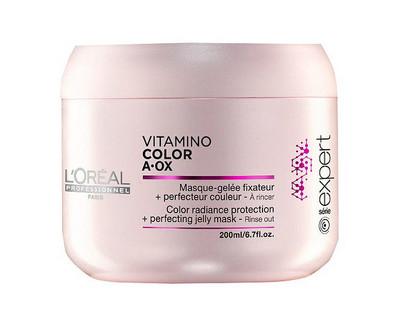 Loreal Professionnel Maska pro ochranu zářivé barvy a perfektní vzhled vlasů Vitamino Color AOX (Radiance Protection + Perfecting Jelly Mask) 500 ml