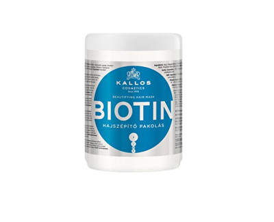 Kallos Maska na vlasy s biotinem (Biotin Beautifying Hair Mask) 1000 ml