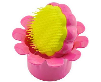 Dětský profesionální kartáč na vlasy Tangle Teezer (Magic Flowerpot) Ružový - priehľadný