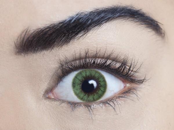 MesmerEyez - Regents Green   jednodenní 2 čočky - barevní čočky