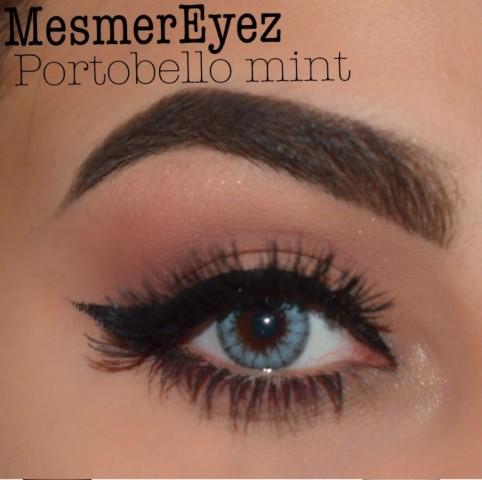 MesmerEyez - Portobello Mint | jednodenní 2 čočky - barevní čočky