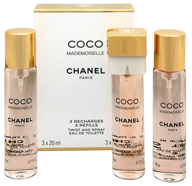 CHANEL Coco Mademoiselle - EDT - náplň (3 x 20 ml) 60 ml