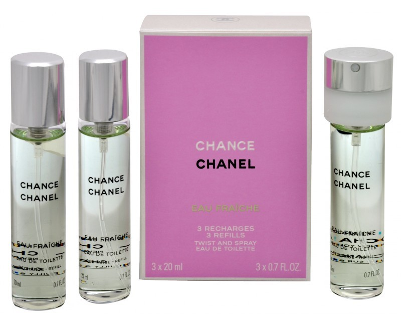 CHANEL Chance Eau Tendre - EDT náplň (3 x 20 ml) 60 ml