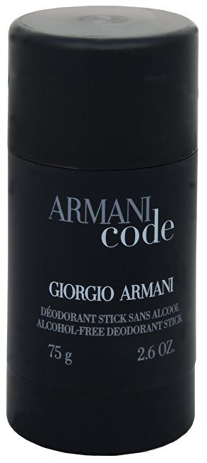 ARMANI Code For Men - tuhý deodorant 75 ml