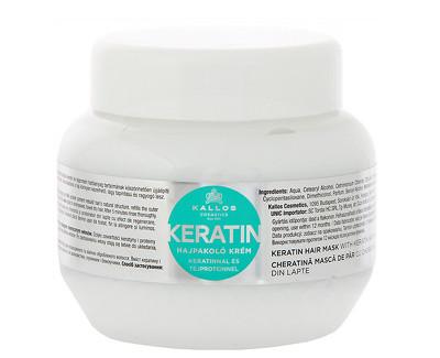 Kallos Regenerační maska na vlasy s keratinem a mléčnými proteiny (Keratin Hair Mask) 1000 ml