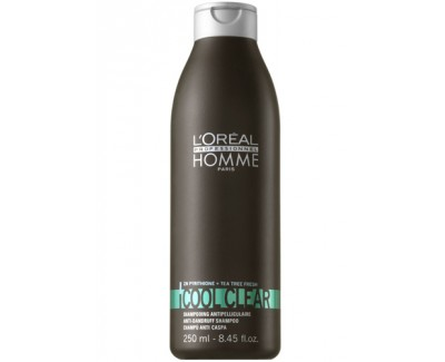 Loreal Professionnel Šampon proti lupům pro muže Cool Clear (Anti-Dandruff Shampoo) 250 ml