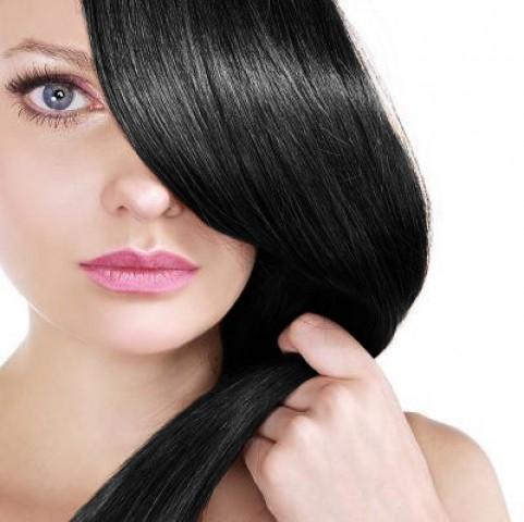 Clip-in vlasy - černé - 45 cm