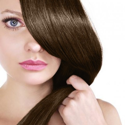 Clip-in vlasy - čokoládovo hnedé - 45 cm