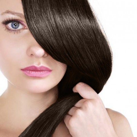 Clip-in vlasy - tmavěhnědé - 45 cm