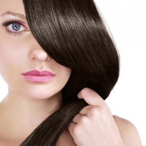 Clip-in vlasy - tmavohnedé - 45 cm