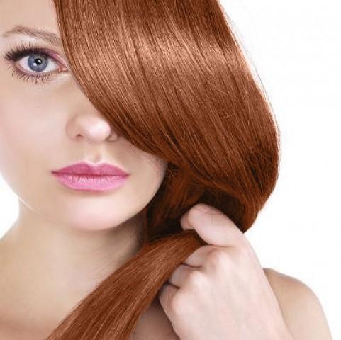 Clip-in vlasy - svetlá medená - 45 cm