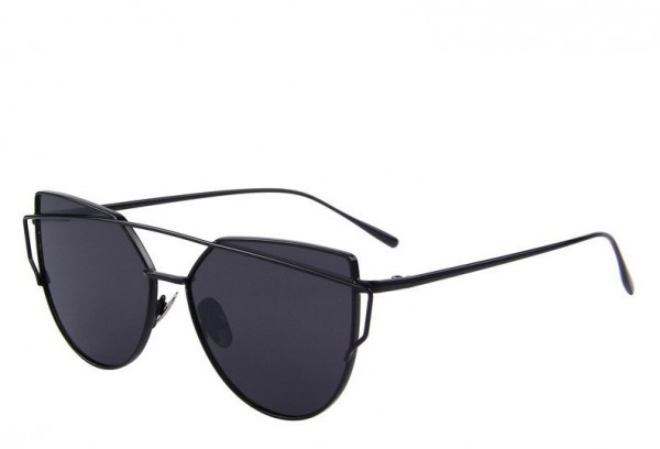 Slnečné okuliare - Cat Eye Aviator style - čierne