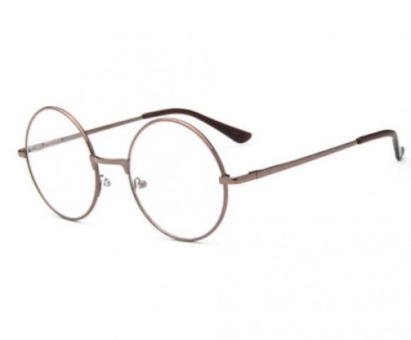 Kerek szemüveg - átlátszó üveg réz kerettel - Napszemüvegek ... 986425dada