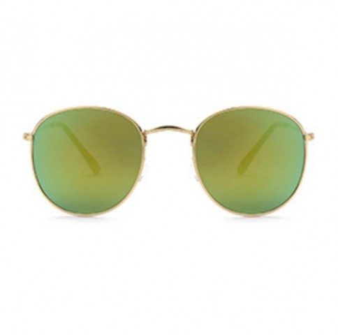 Slnečné okuliare - Vintage style - zlato-zelené