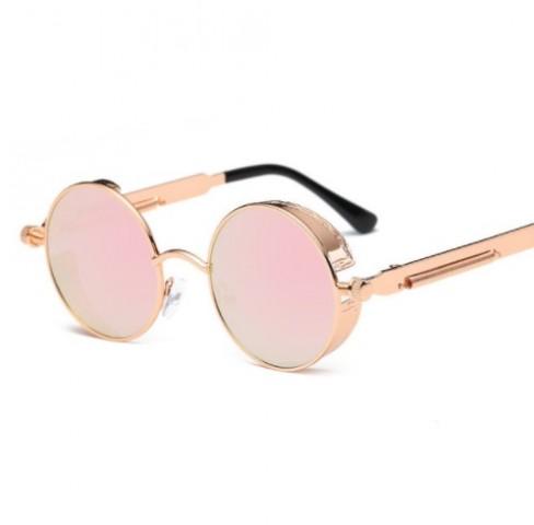 Sluneční brýle Gothic Steampunk - růžové