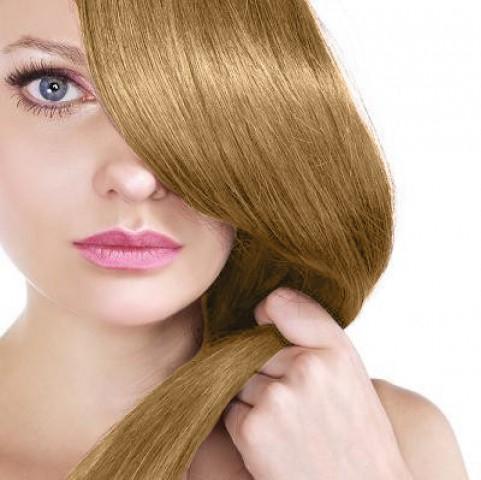 Clip-in vlasy - melír tmavá blond /platinová blond - 35 cm