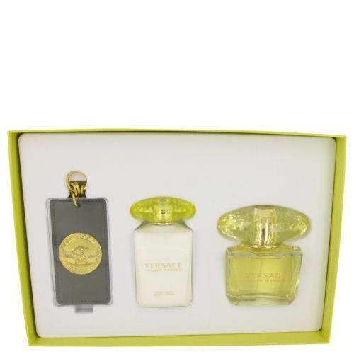 VERSACE Yellow Diamond - EDT 90 ml + tělové mléko 100 ml + přívěšek na tašku
