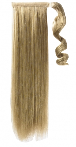Syntetický clip-in chvost - tmavá blond 60 cm