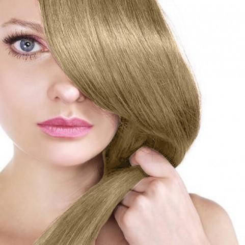 Clip in vlasy - melír popolavohnedá/platínová blond - 55 cm