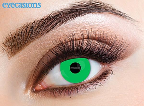 Eyecasions - Lime Green | mesačné + 60ml roztok + púzdro zadarmo