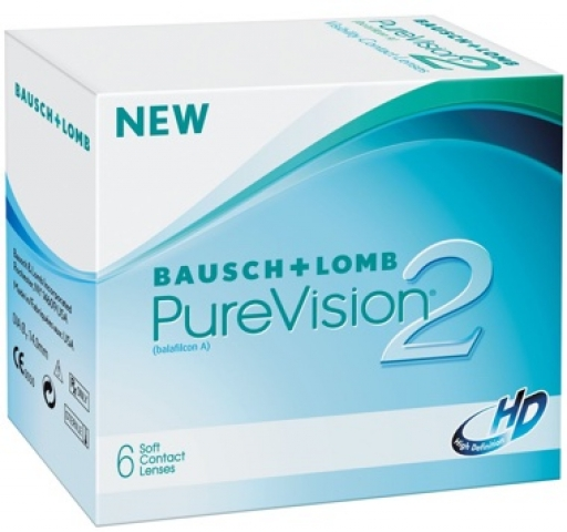 PureVision 2HD | hónapos (6 lencse) - dioptria: +2.50, görbület: 8.60, átmérő: 14.00