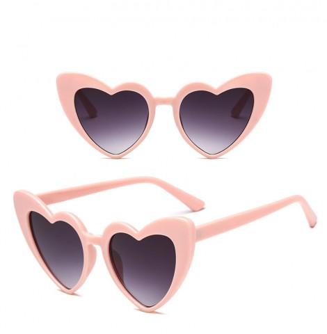 Srdiečkové okuliare - ružové