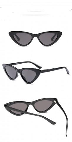 74f9475c0 Retro mačacie okuliare - čierne - Slnečné Okuliare - HappyHairShop.sk
