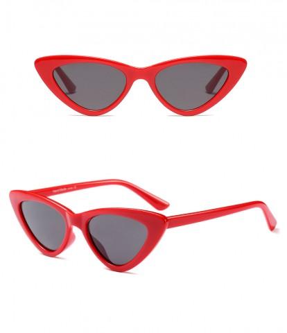 174bb3034 Retro mačacie okuliare - červené - Slnečné Okuliare - HappyHairShop.sk