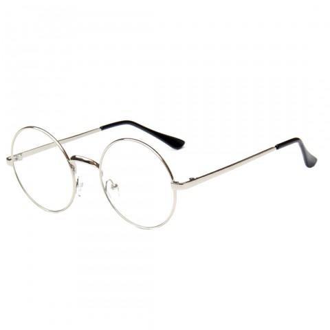 Kerek szemüveg - átlátszó üveg ezüst kerettel - Napszemüvegek ... 0141f80734